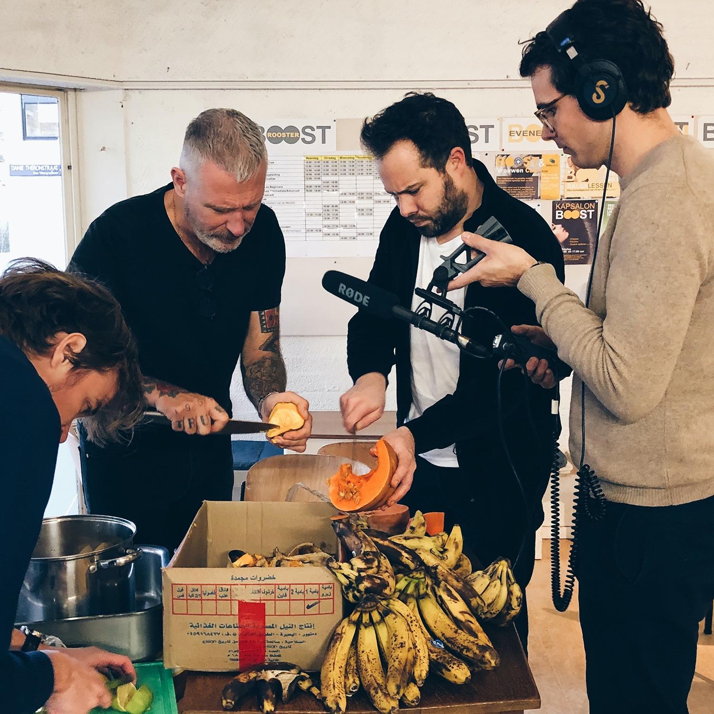 Eric Corton en Samuel Levie koken samen voor de podcast